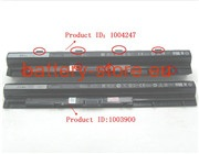 11.1 V, 5605 mAh computer batteries for DELL inspiron 3558