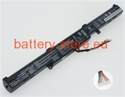 Laptop battery for A41N1501, GL752VW, N552V computer batteries