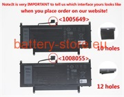 Laptop battery for N7HTO, N7HT0, 08NFC7 computer batteries