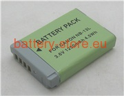 3.6 V, 1250 mAh batteries for CANON powershot g9x