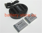 3.6 V, 1600 mAh batteries for CANON nb-13l
